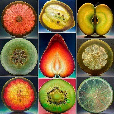 Fruit Paintings by Dennis Wojtkiewicz