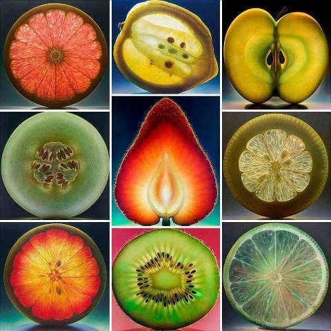 Fruit Paintings by Dennis Wojtkiewicz