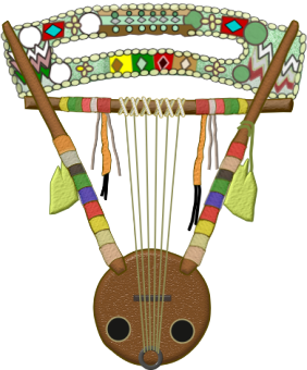 Traditional Krar Harp