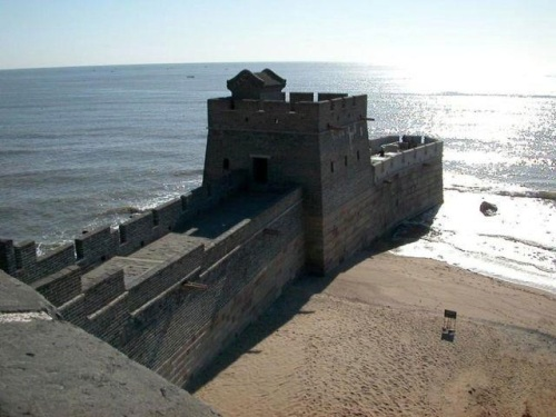 The-end-of-the-Great-Wall-of-China