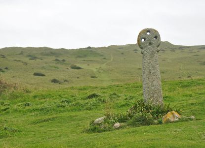 St Piran's cross, the oldest in the county - image: Nilfanion